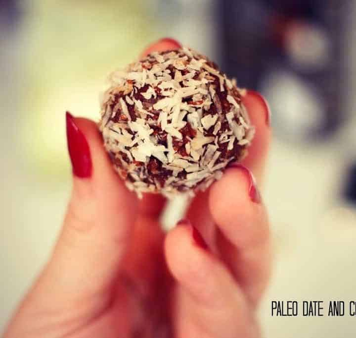 Paleo-date and coconut balls