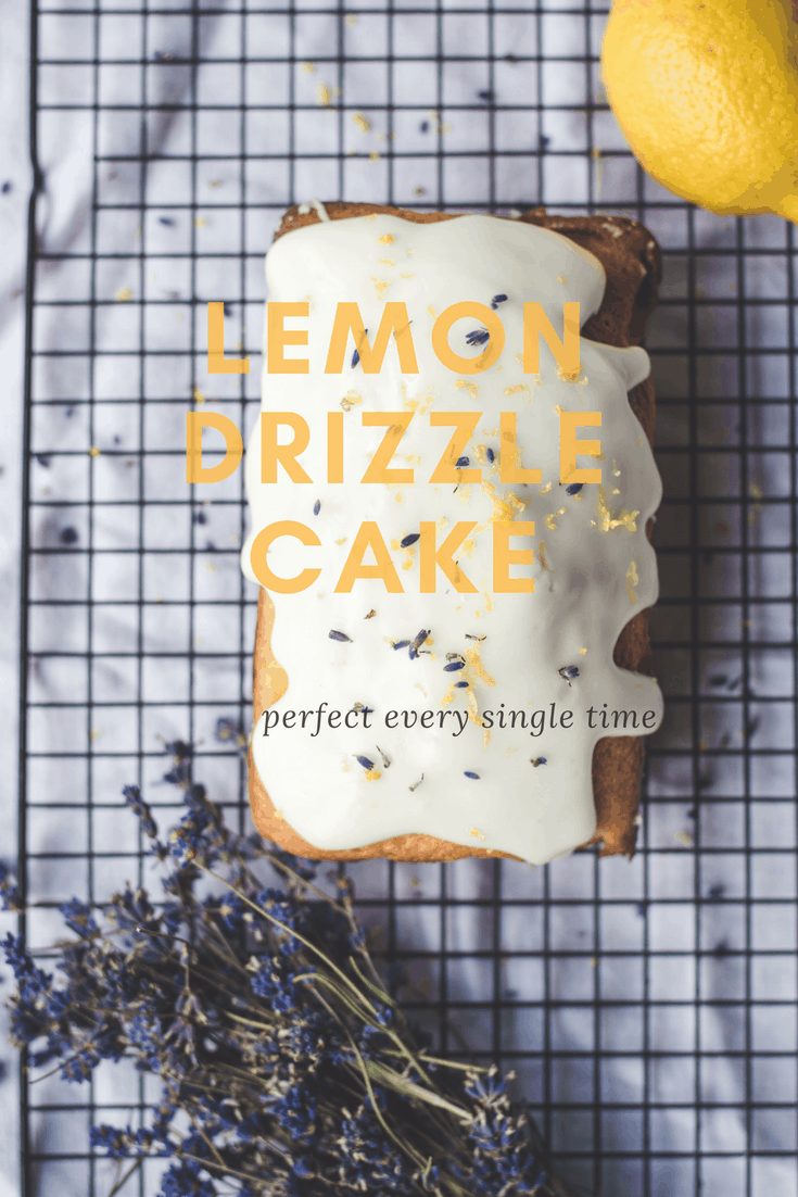 This lemon drizzle cake recipe is so simple and turns out perfectly every single time