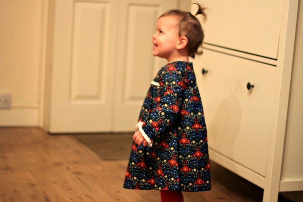 toddler wearing a dress