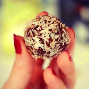 date and coconut paleo ball