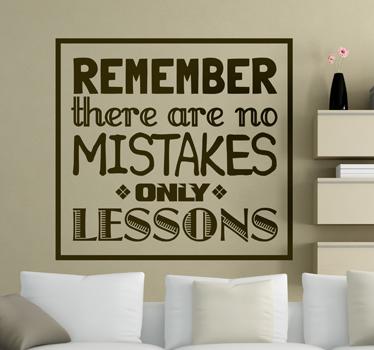 No Mistakes sticker