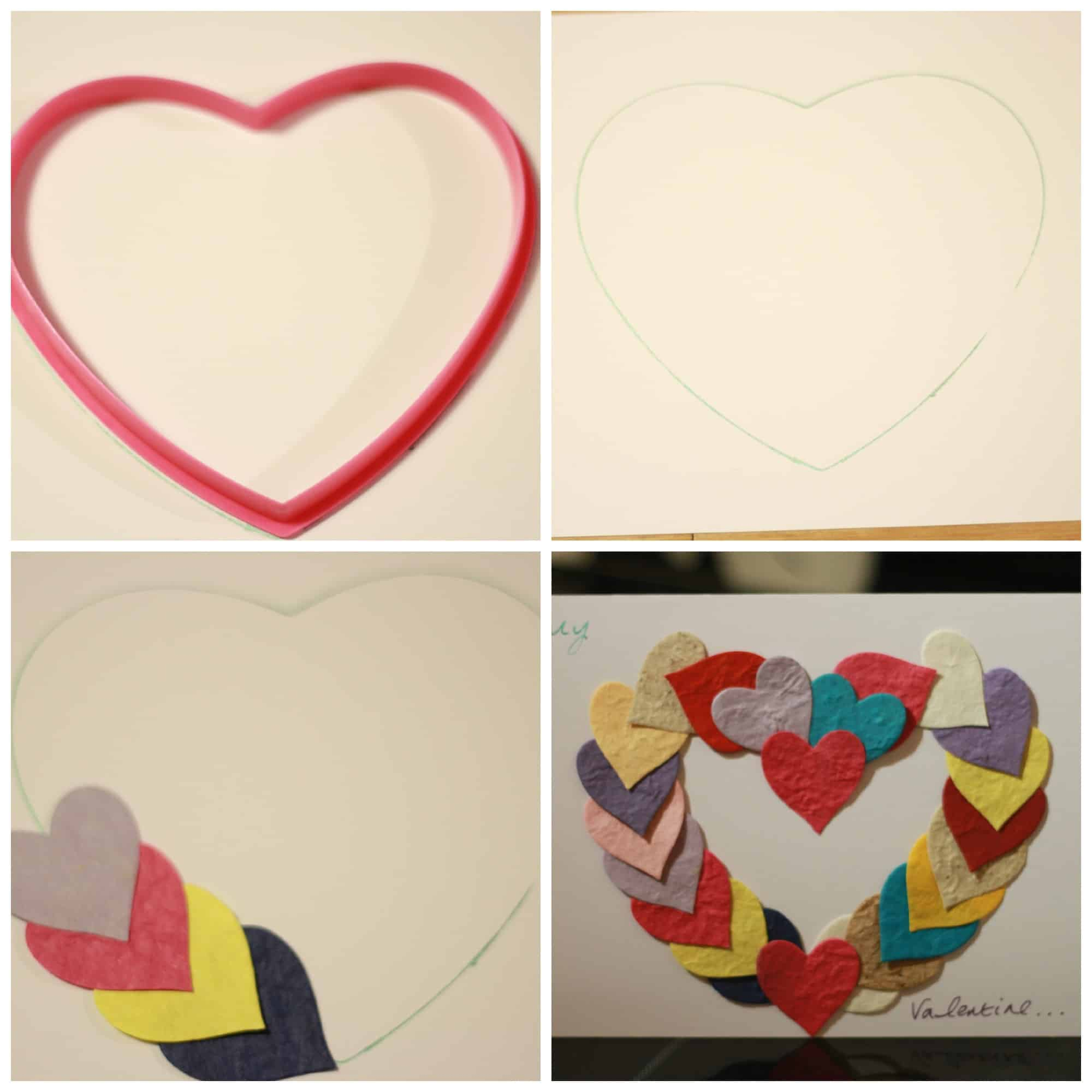 valentines card collage