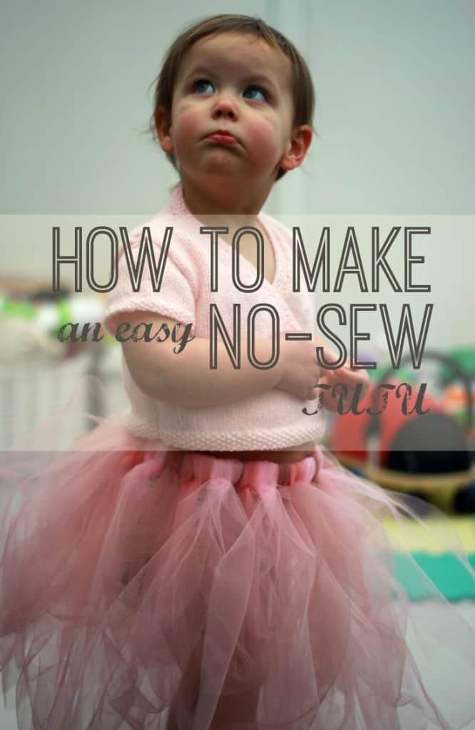 How to make a super easy NO SEW tutu in under an hour. All you need is a piece of elastic and some lengths of tulle. Check out the blog post for an easy step-by-step with detailed images!