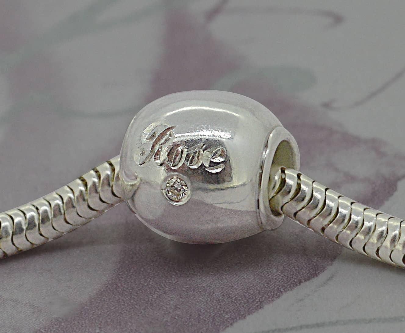 Rose Engraved Bead 2