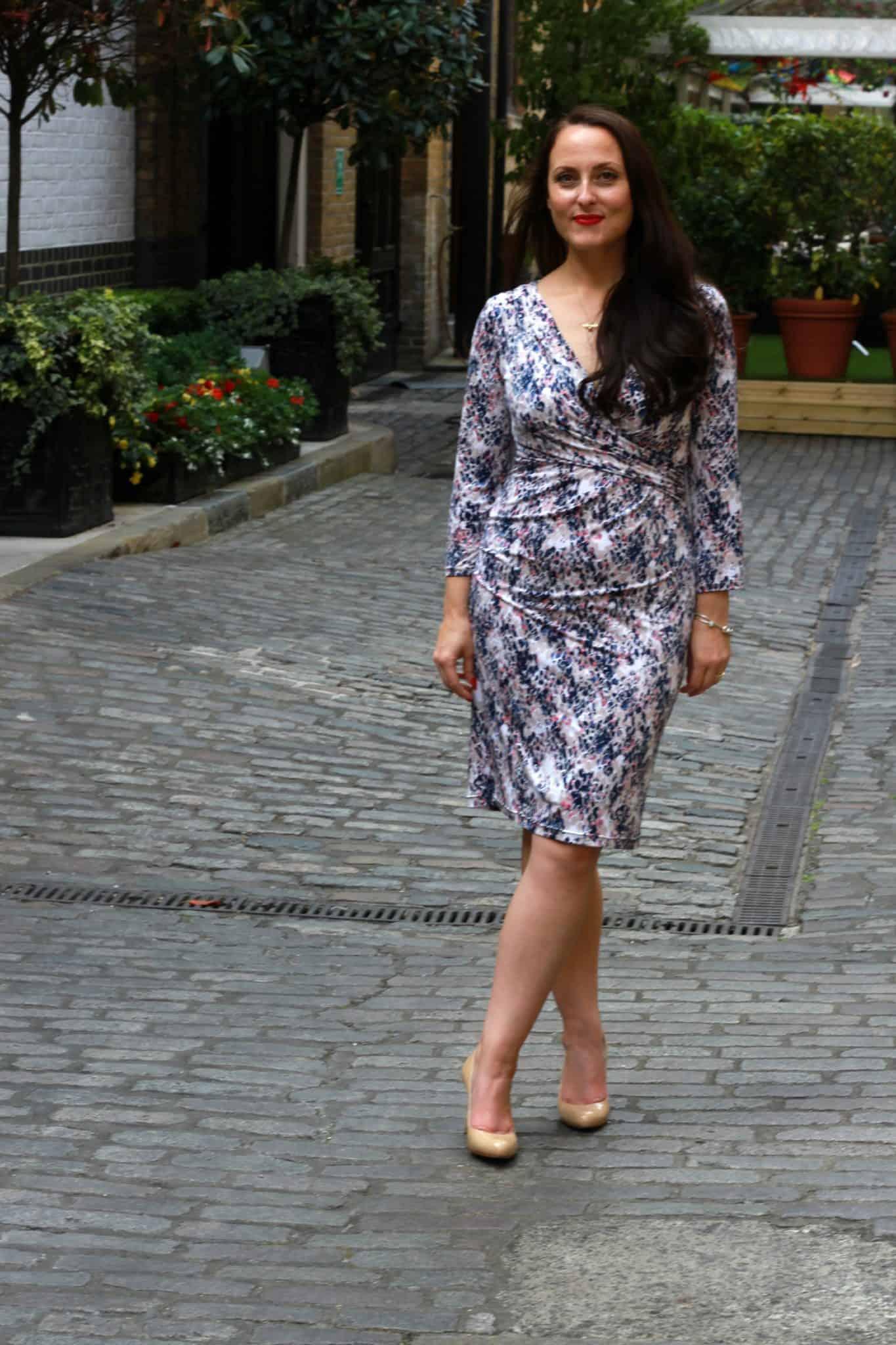 Gina Bacconi wrap style dress