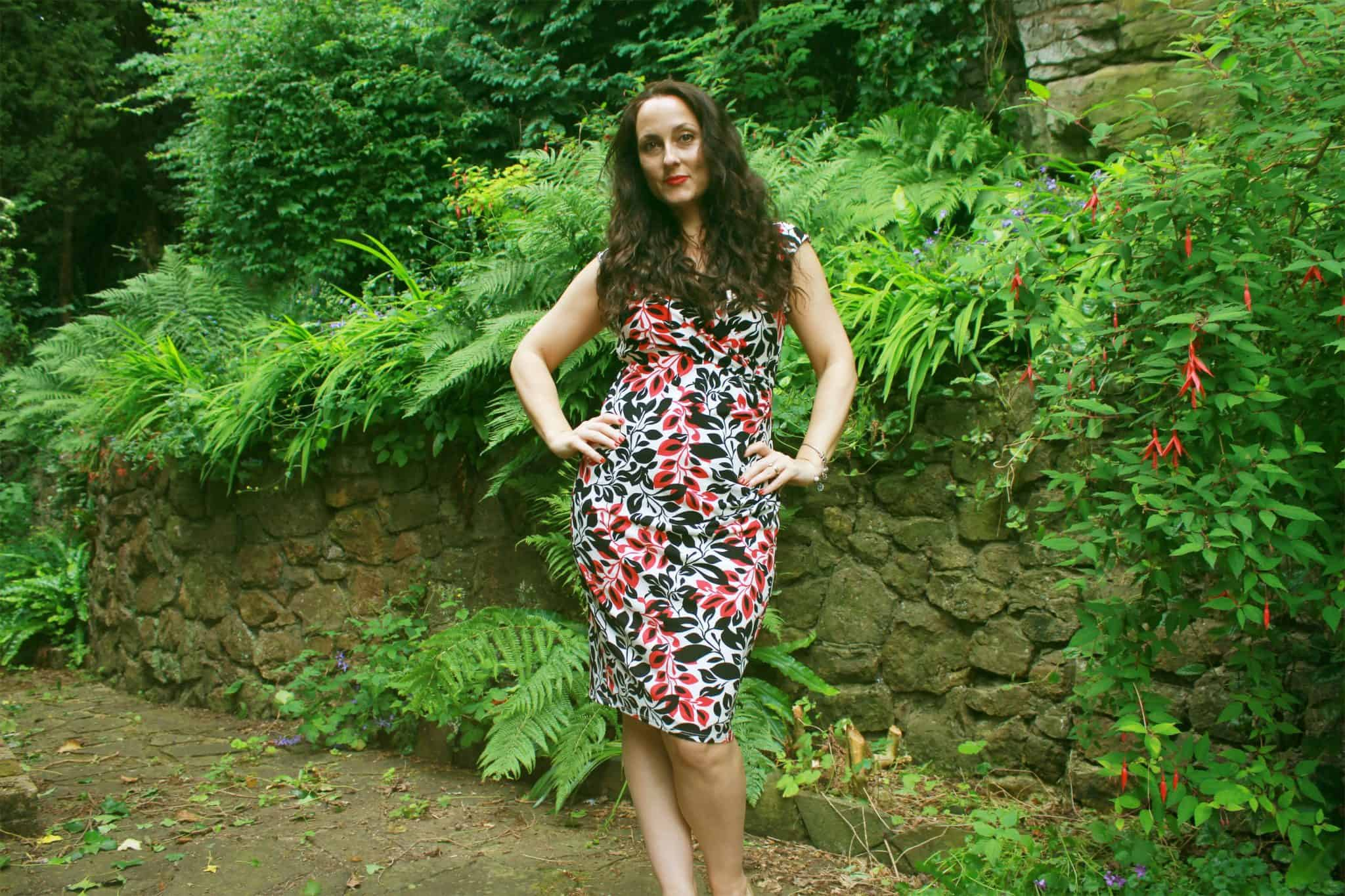 Planet leaf patterned dress