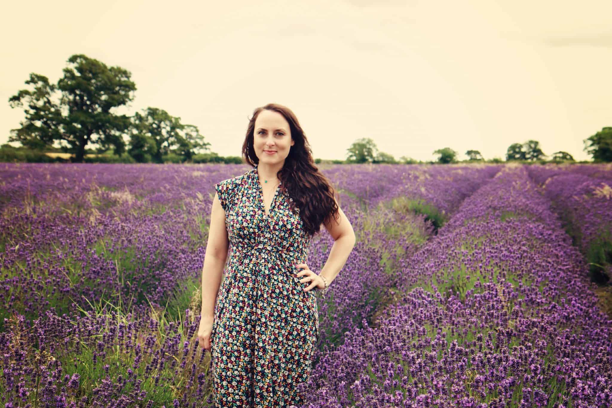 The Style Edit at Mr and Mrs T Plus Three: French Connection maxi dress. Photograph taken at Somerset Lavender