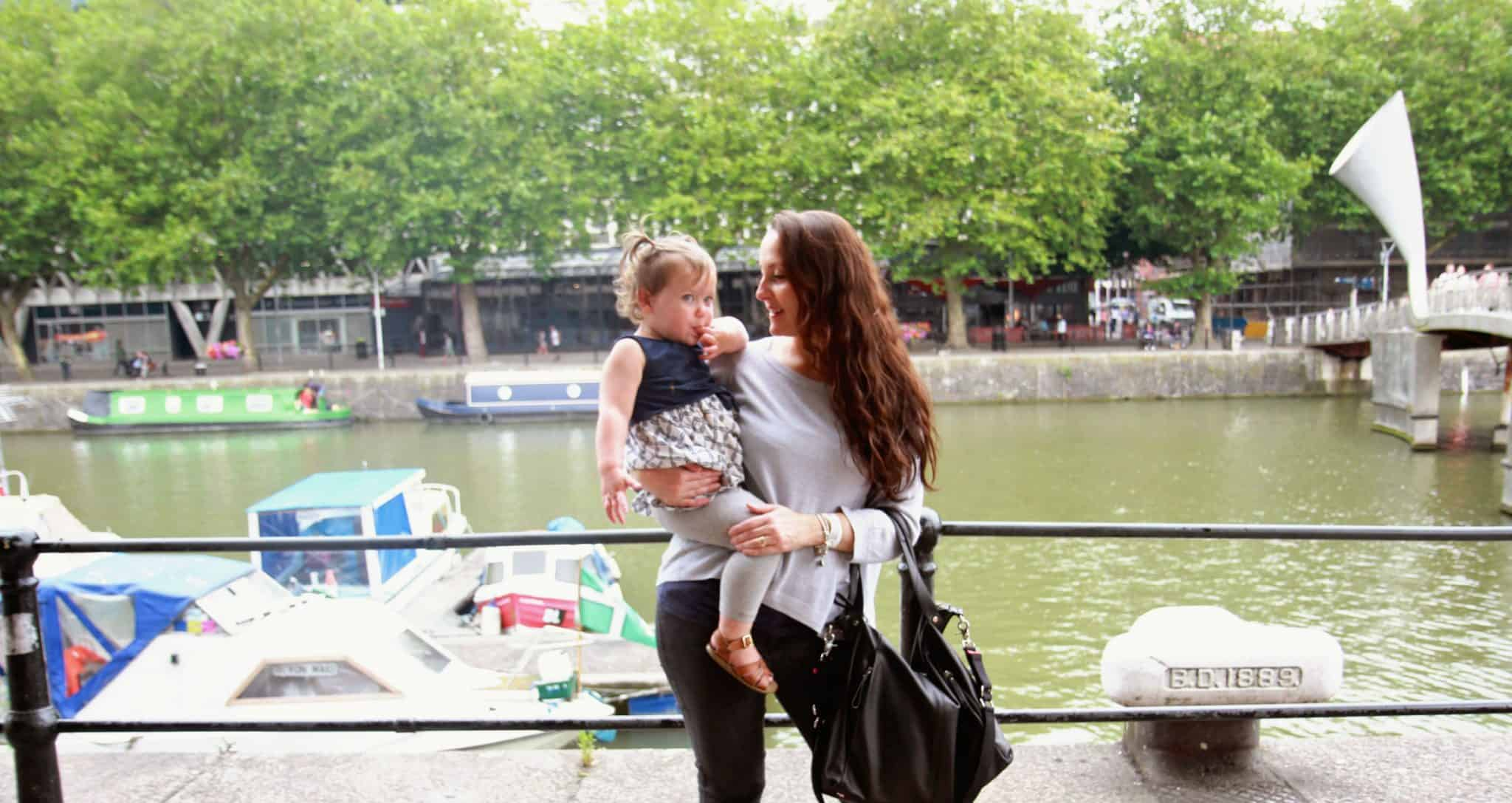 Mummy and Rose harbourside