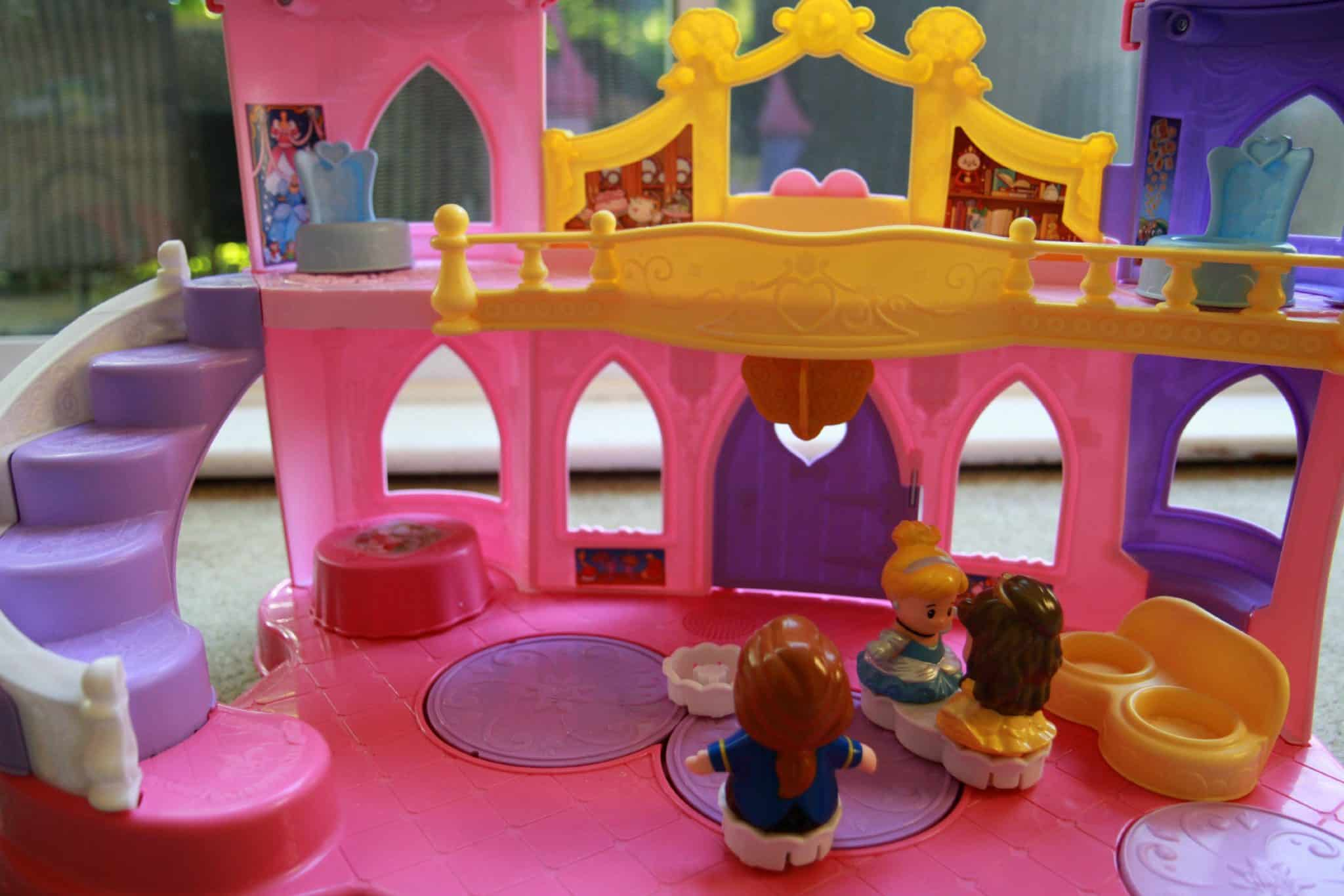 Inside Fisher Price Disney Musical Princess Palace by Little People