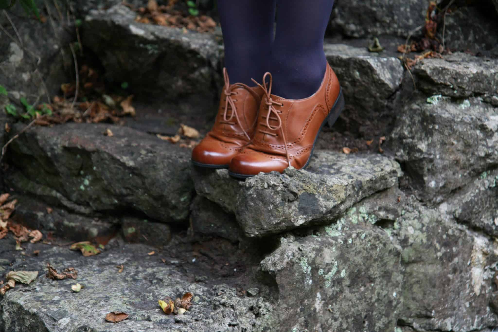 Tan leather brogue from Clarks at Brantano