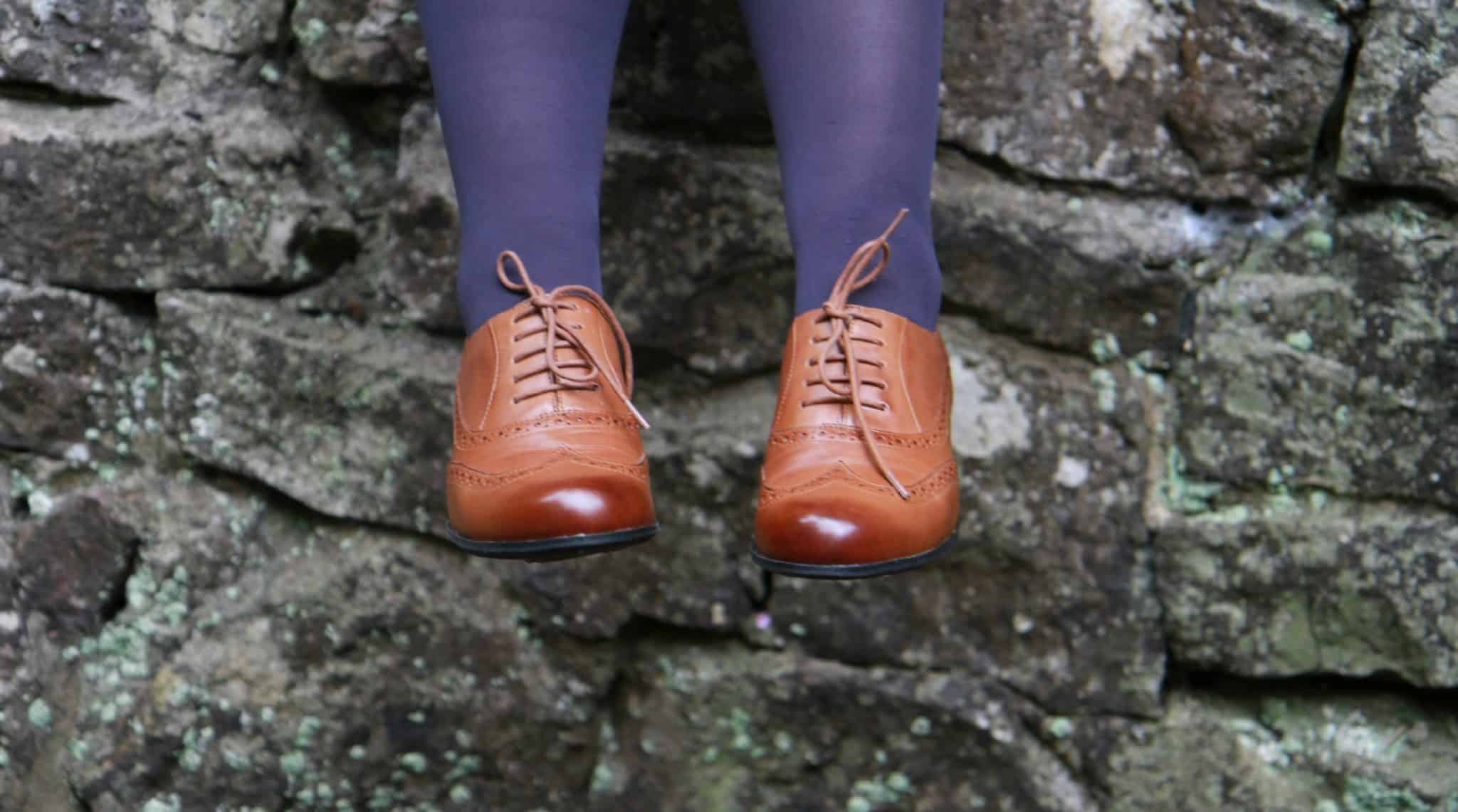 Top quality shoes from Clarks at Brantano-hamble tan brogue shoes, laced with punched detail
