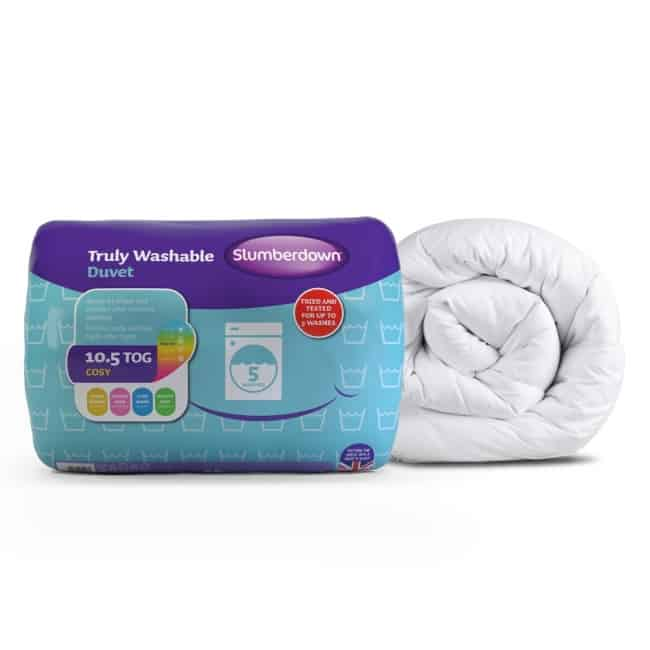 washable pillow and duvet by Slumberdown