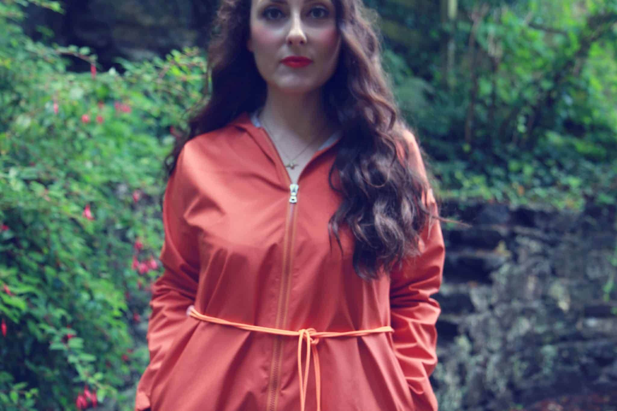 Jungwon vivid orange waterprrof and windproof jacket