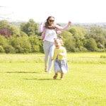 Having fun at Ashton Court Estate, Bristol