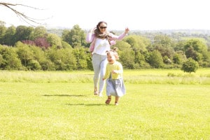 Having fun at Ashton Court Estate, Bristol