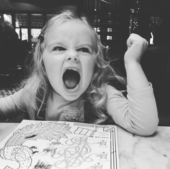 Fierce Little One out for dinner with her mama!