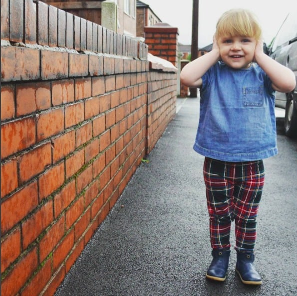 Little girl in a gorgeous and trendy outfit