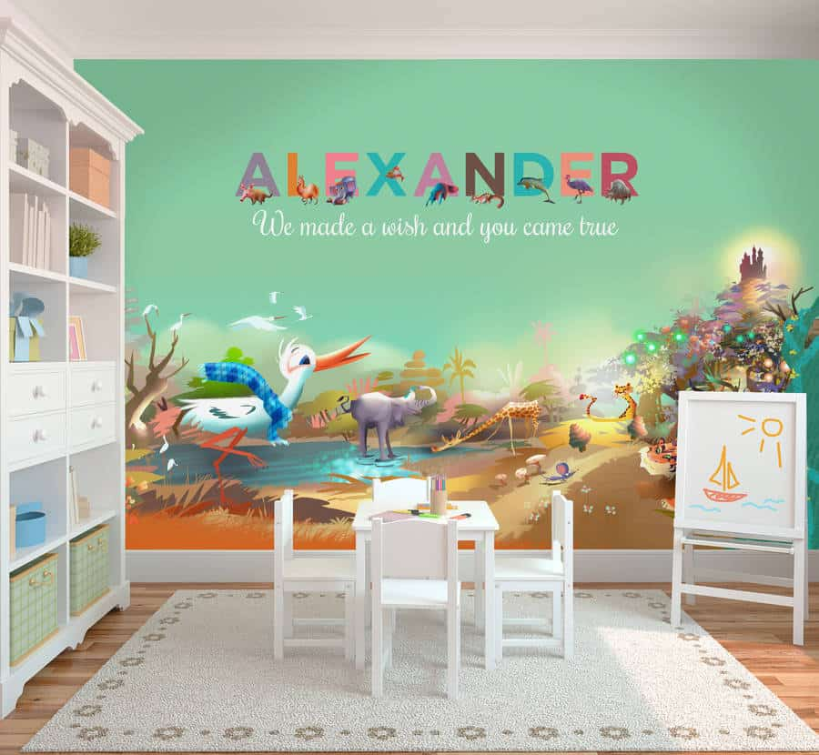 Children's wallpaper personalised