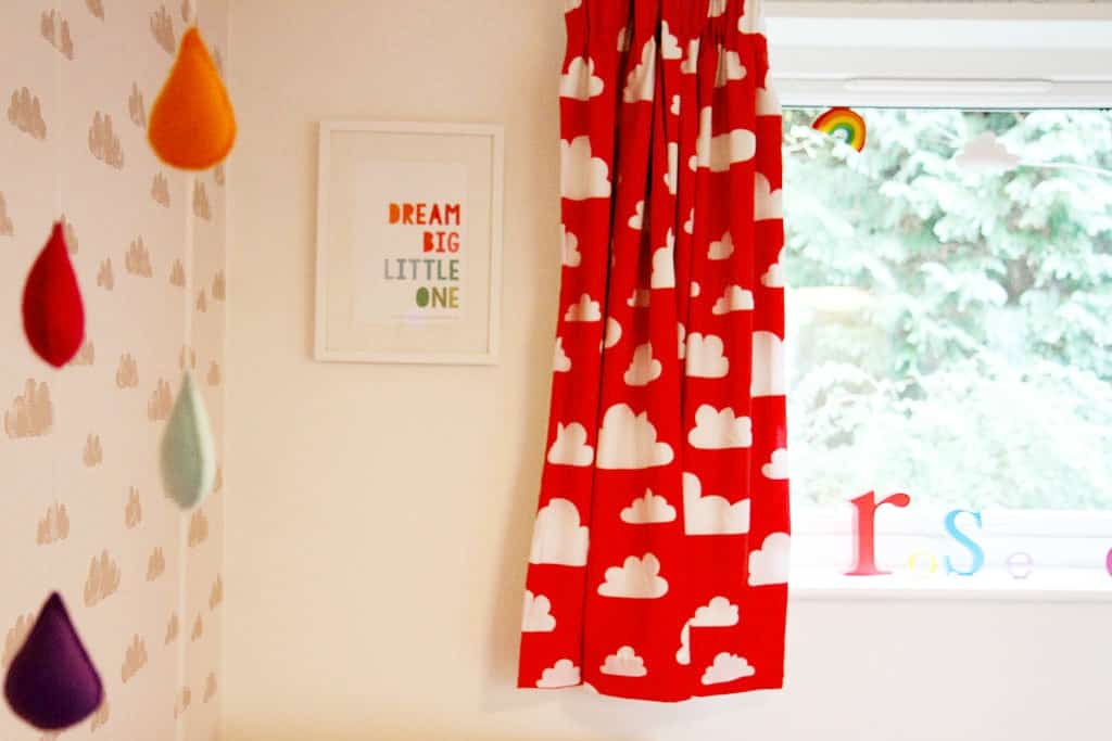 Dream Big Little One Print and Farg and Form curtains