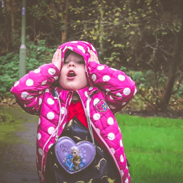 Little girl with exasperated expression!