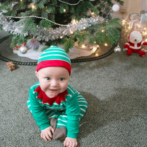 baby in elf costume