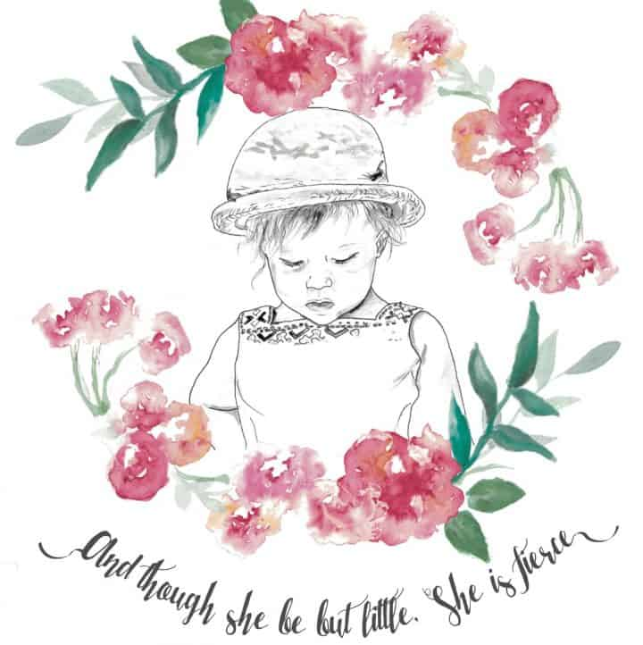 A personalised illustration from Watercolour Heart
