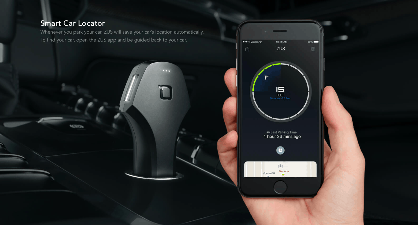 ZUS-The first smart car charger and car locator review