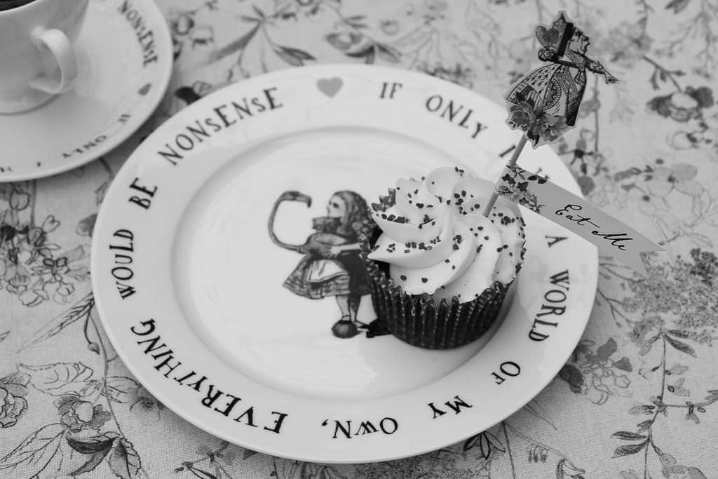 A plate from the Alice in Wonderland collection for Amara