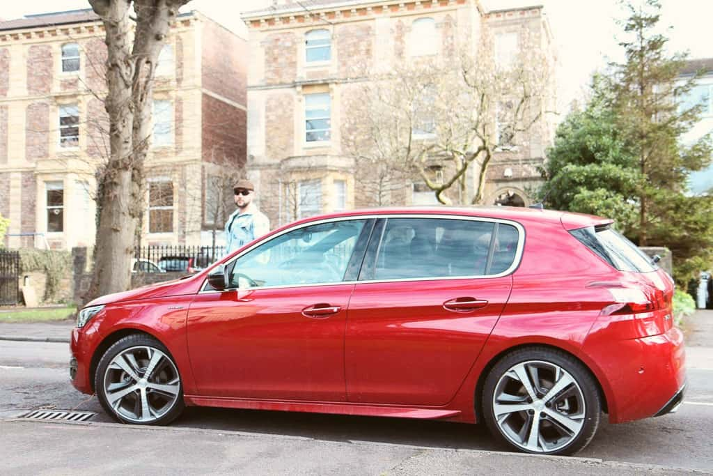 Peugeot 308 GT in red