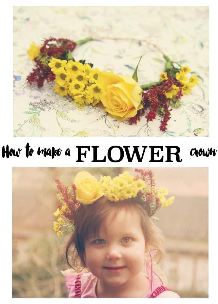 A tutorial of how to make a beautiful flower crown from fresh flowers in just three easy steps. Photographs and how-to guide for you to follow.