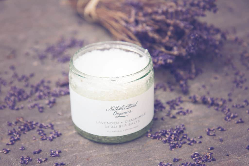 Lavender salts from Nathalie Bond Organics