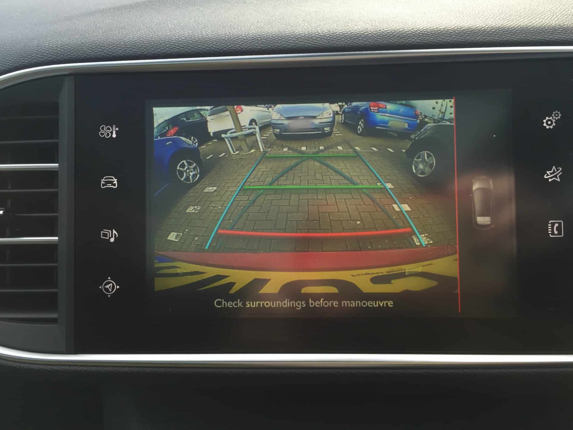 Peugeot 308 GT full colour reverse camera
