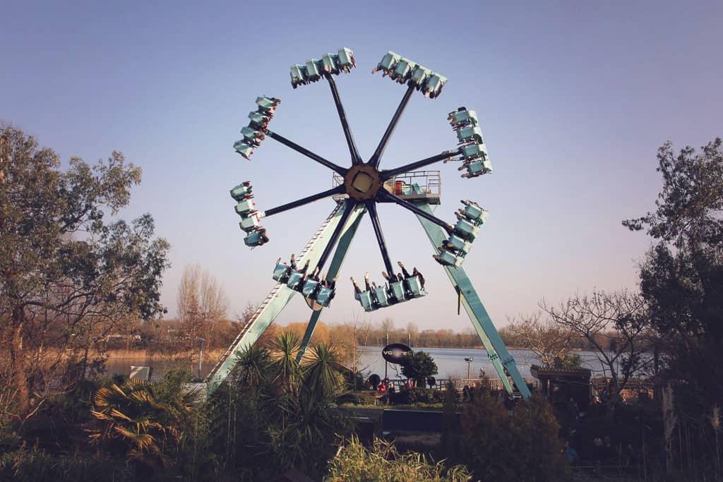Vortex ride at Thorpe Park