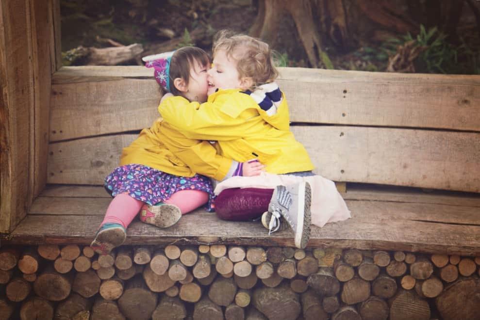 Rose and baby hug