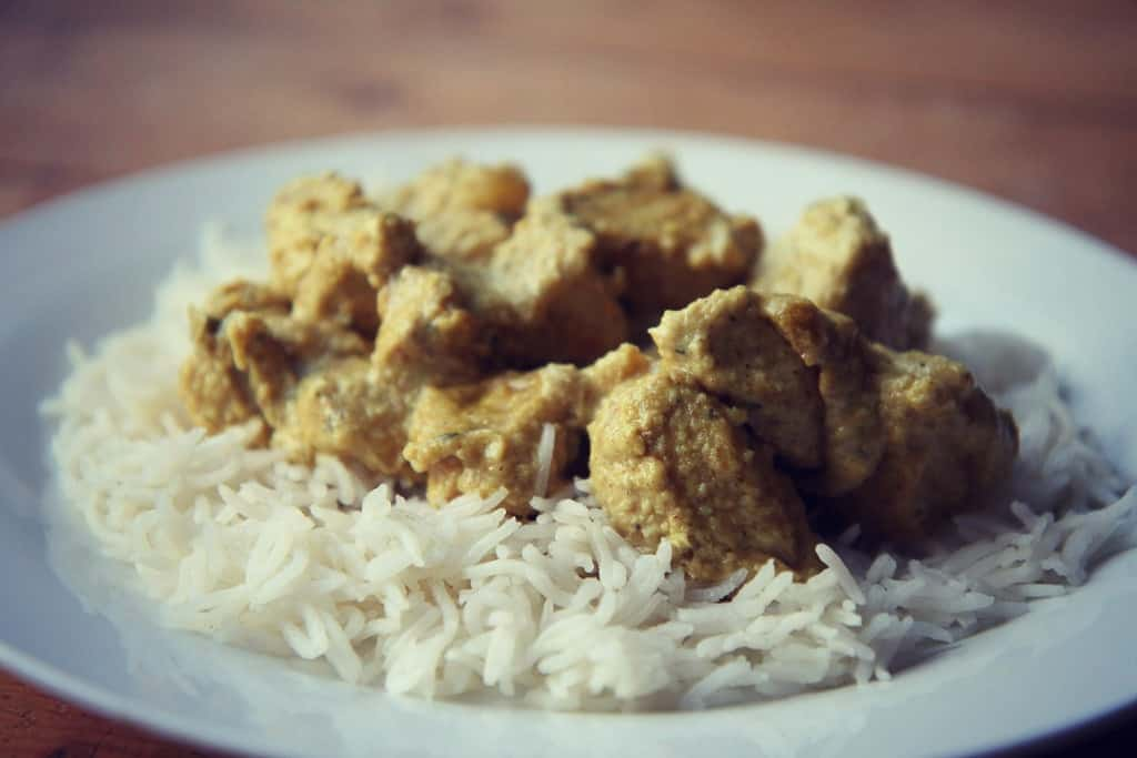 Chicken korma curry using Schwartz spice blend