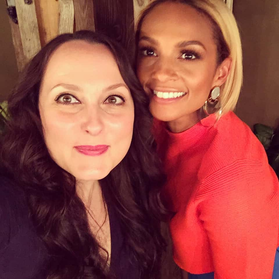 Amy Treasure with Alesha Dixon