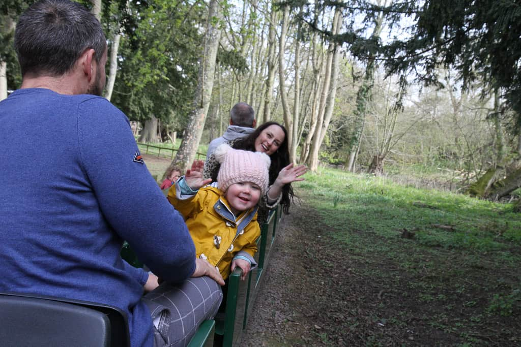 On the train at Belton House