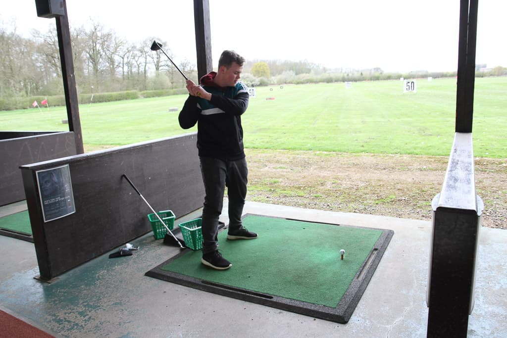 The driving range at Belton Woods, Q lodges