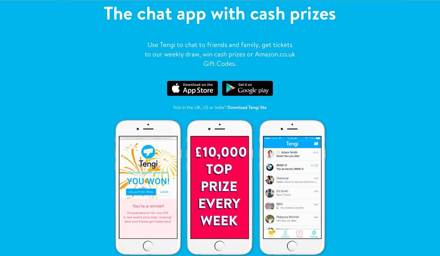 Tengi, the messaging app that gives back!