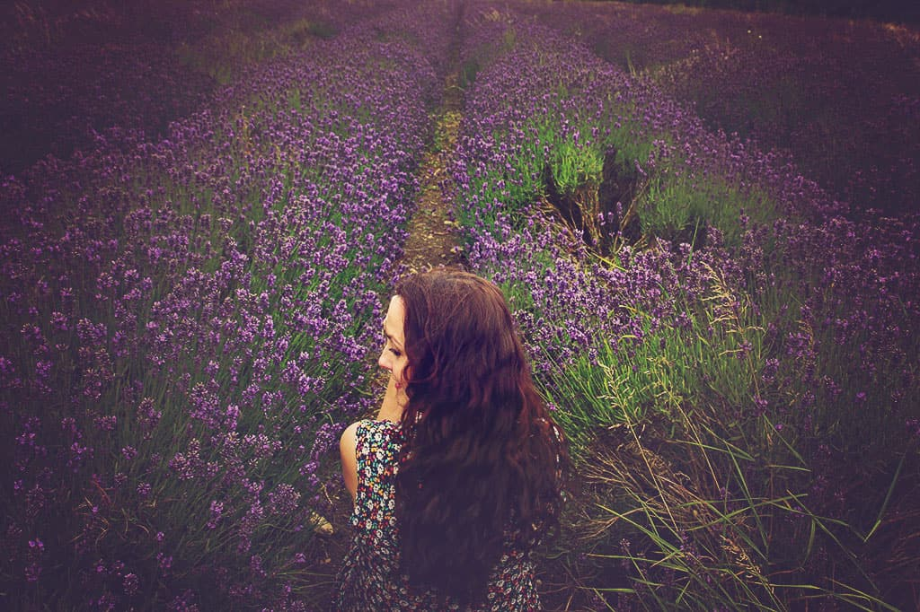 Amy in lavender dusk