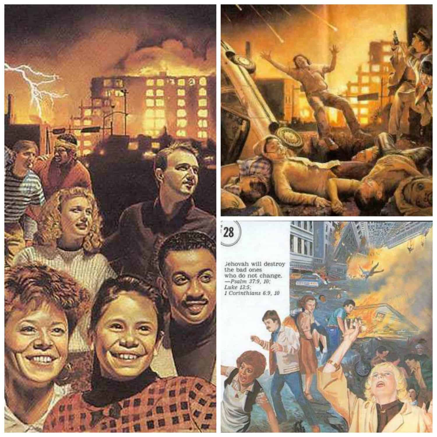 A collection of images that are used by Jehovah's witnesses