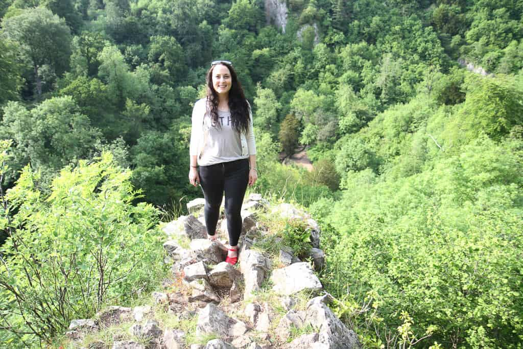 Standing on the edge of cliff edge