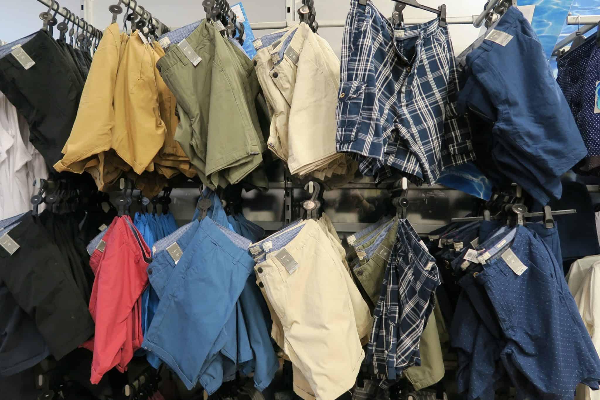 Selection of shorts at Matalan