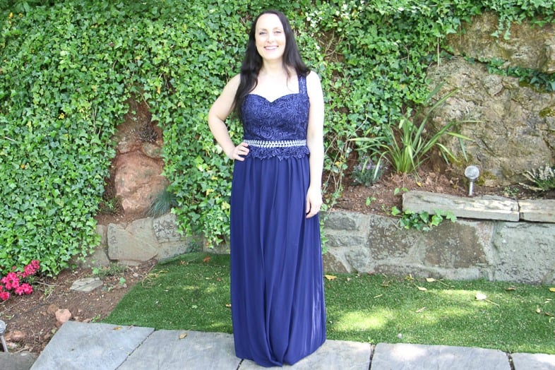 Full length maxi dress from Quiz clothing