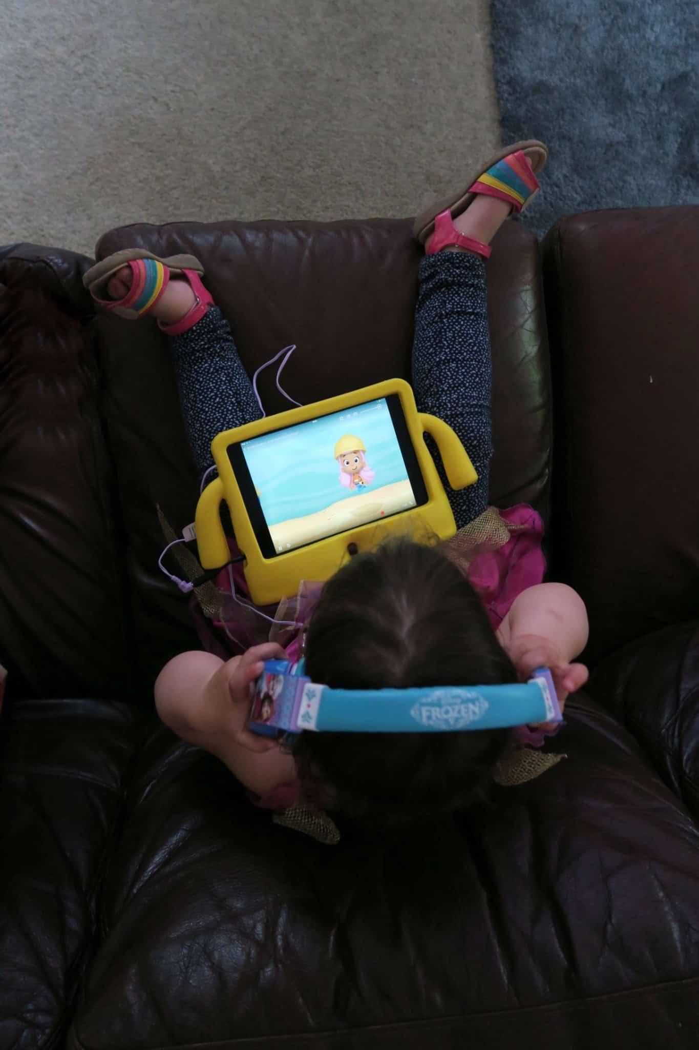Watching Bubble guppies on Neflix on an iPad