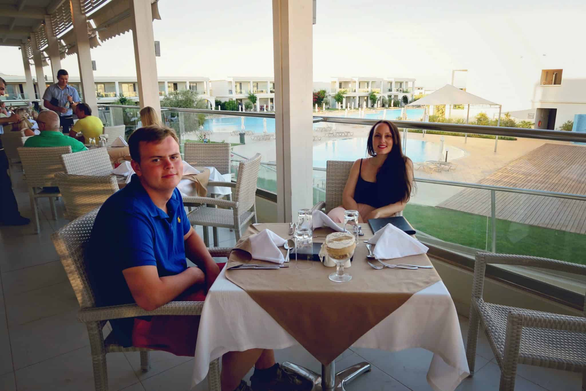 Dinner at Levante Beach