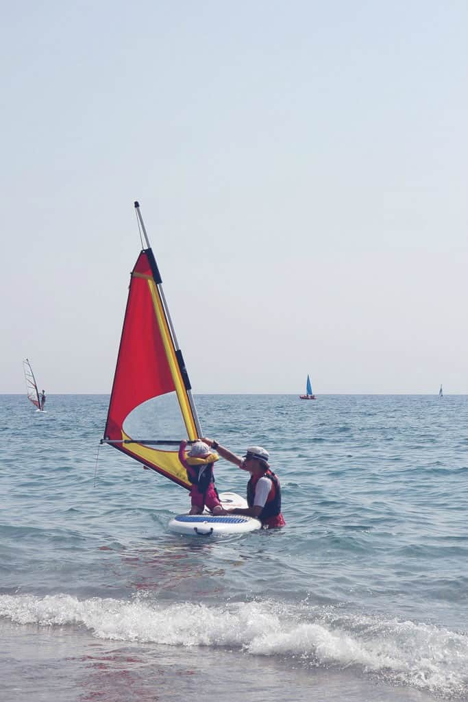 Childcare activities on a Mark Warner holiday-Windsurfing