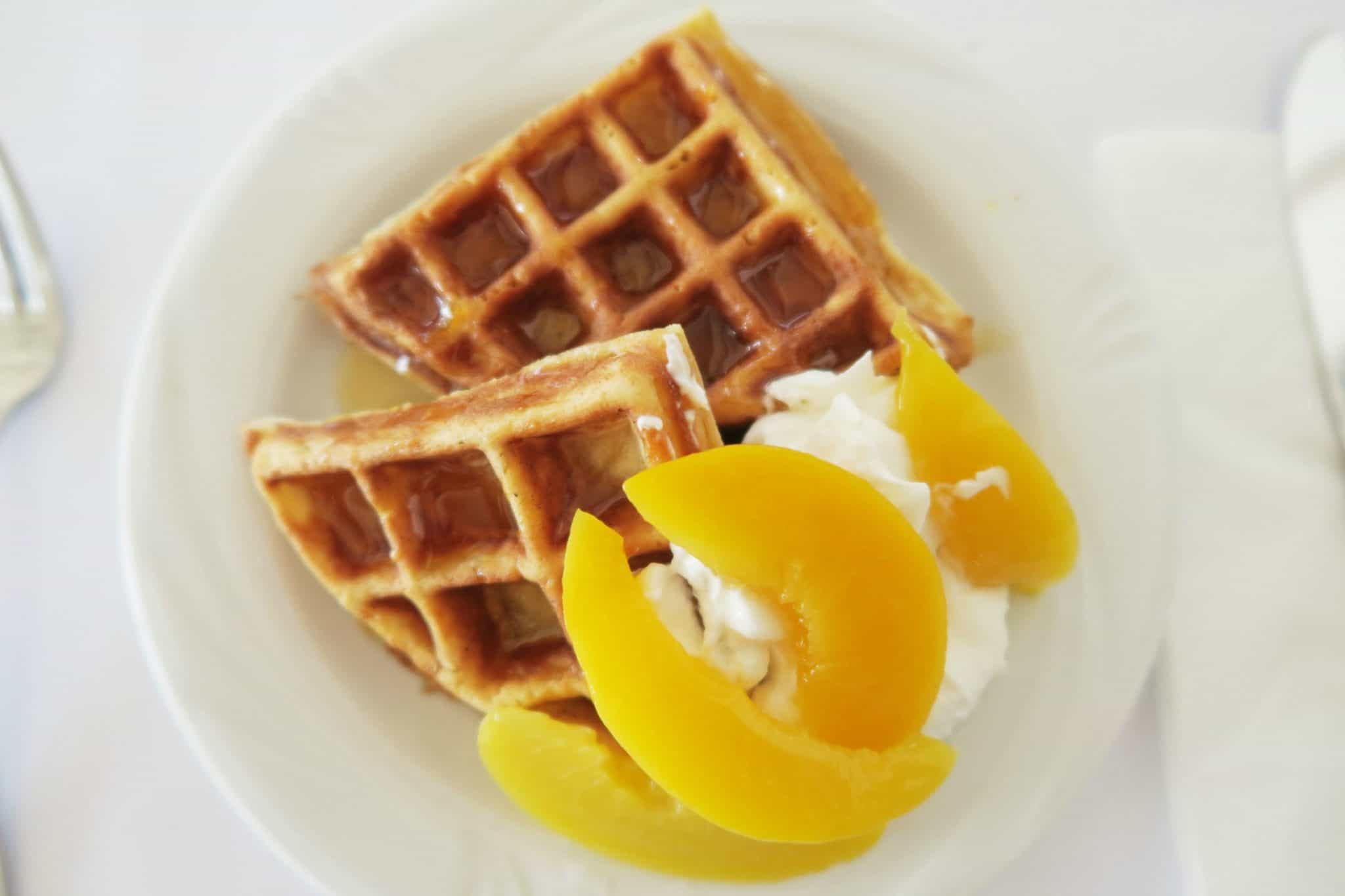 Waffles from the Pancake man at Levante Beach