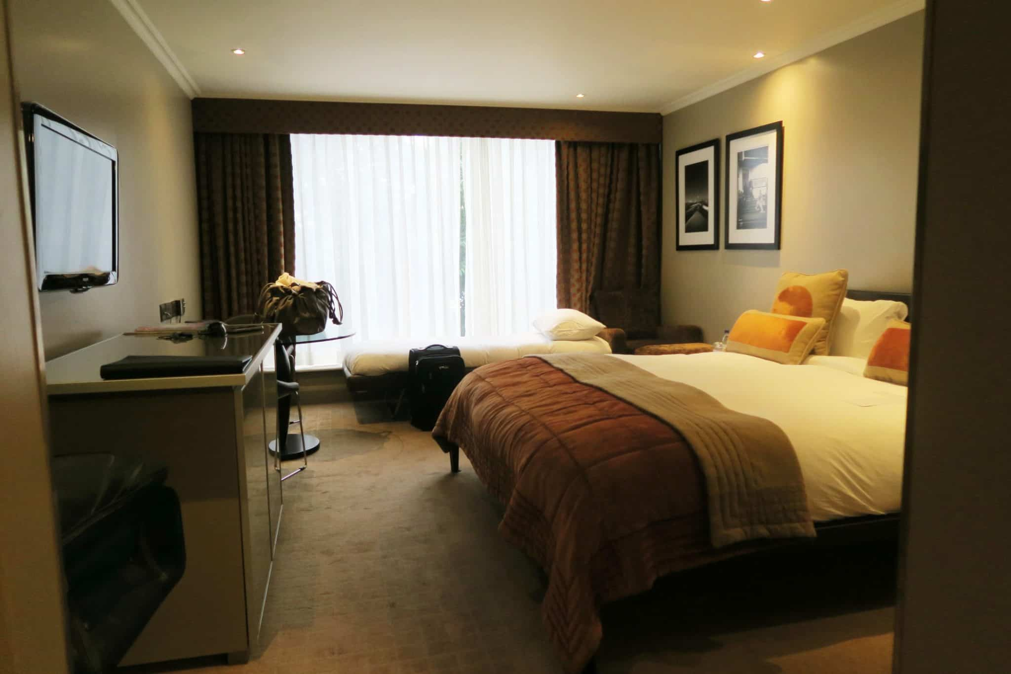Interior of a triple room at the Radisson Blu Hotel