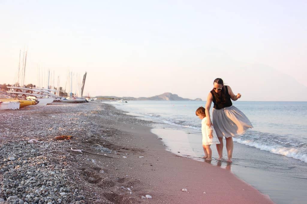 Levante Beach at sun set